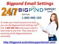 Bigpond Email Settings 08-07-2018