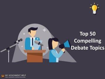 50 Excellent Debate Topics