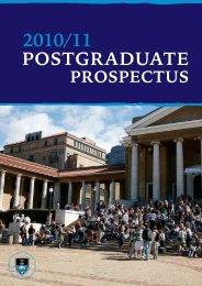 2010/11 postgraduate prospectus