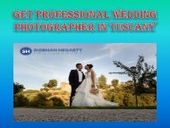 Get Professional wedding photographer in Tuscany