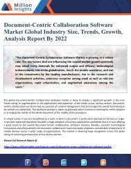 Document-Centric Collaboration Software Market Global Industry Size, Trends, Growth, Analysis Report By 2022