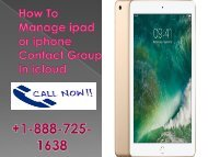 How To Manage ipad or iphone Contact Group In icloud +1-800-608-5461