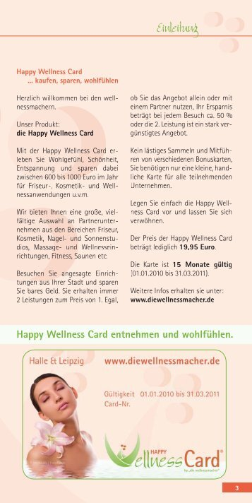 Kosmetik & Nägel - Happy Wellness Card