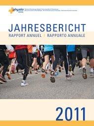 Rapport annuel 2011 - Schweizer Physiotherapie Verband