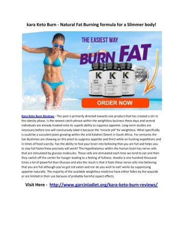 Kara Keto Burn Reviews - Qickly Lose Weight & Get Perfect Body Shape!