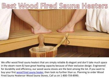 Best Wood Fired Sauna Heaters
