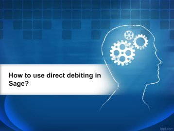How to use direct debiting in Sage
