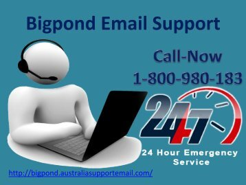 Want A Help Of Bigpond Email Support Team ? Dial 1-800-980-183