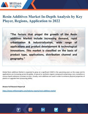 Resin Additives Market Share, Analysis Include Growth Trends