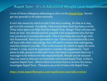 Rapid Tone - It's A Advanced Weight Lose Supplement.output