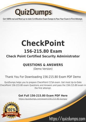 156-215.80 Exam Dumps - Prepare 156-215.80 Dumps PDF