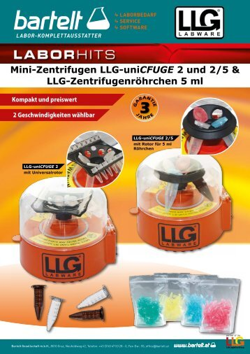 LLG uniCFUGE 2-5 Mini-Zentrifuge Aktion Laborbedarf