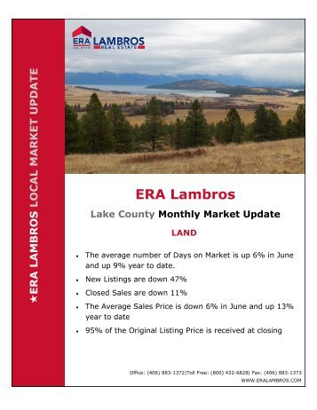 Lake County Land Update - June 2018