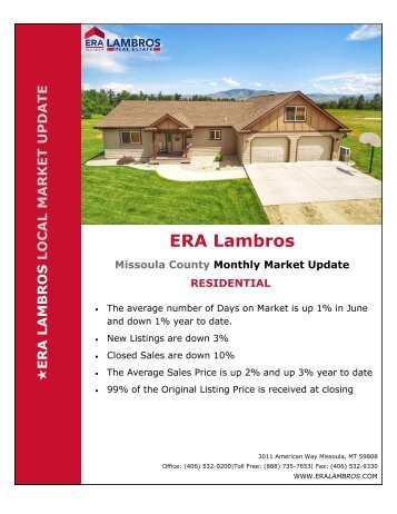 Missoula Residential Update - June 2018pub