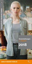 Evangelische Akademie Baden - Programm 2018/II