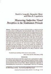 Measuring Subjective Visual - Alexander V. Maier, Ph.D.