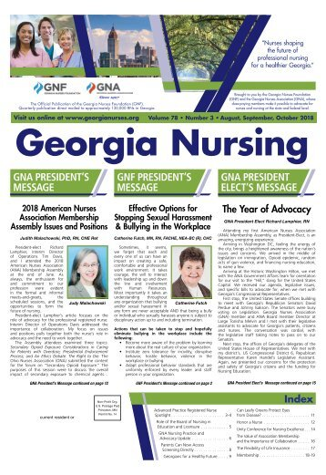 Georgia Nursing - August 2018