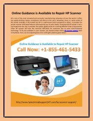 Online Guidance is Available to Repair HP Scanner