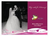 Fresh Entertainments Wedding Brochure