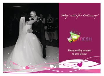 Fresh Entertainments Wedding Brochure