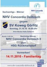 SV Koweg Görlitz - NHV Concordia Delitzsch 2010 eV