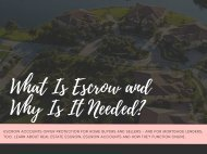 What Is Escrow And Why Is It Needed