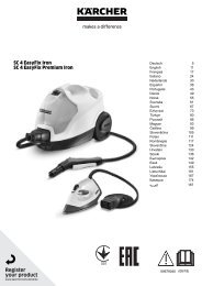 Karcher SC 4 EasyFix Premium + Fer à repasser (blanc) - manuals