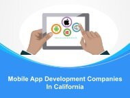 Top Mobile App Development Companies In California