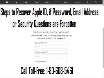 Call +1-800-608-5461 To Recover Apple ID