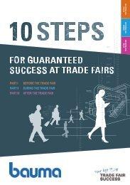 bauma 2019 // 10 steps for guaranteed success at trade fairs