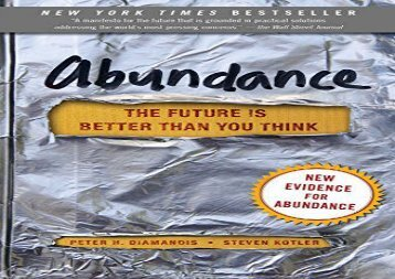 [+]The best book of the month Abundance: The Future Is Better Than You Think  [READ]