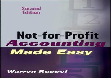 [+]The best book of the month Not-for-Profit Accounting Made Easy  [READ]