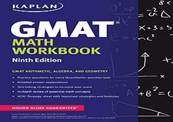 [+]The best book of the month Kaplan GMAT Math Workbook (Kaplan Test Prep)  [FULL]