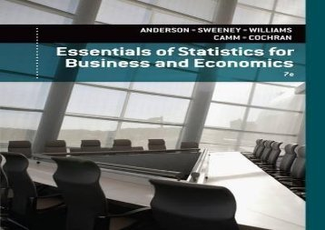 [+][PDF] TOP TREND Essentials of Statistics for Business and Economics  [FREE]