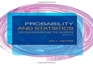 [+]The best book of the month The Probability and Statistics for Engineering and the Sciences [PDF]