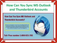 How Can You Sync MS Outlook and Thunderbird Accounts