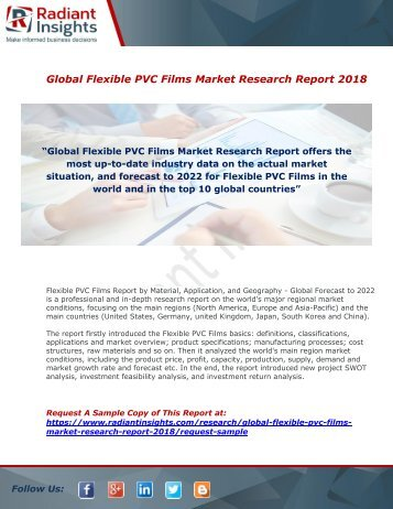 Flexible PVC Films Market : Size, Growth, Industry Share, Demand, Analysis And Forecast Report 2018