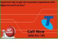 Important tips to get the smoother experience with Bigpond email service