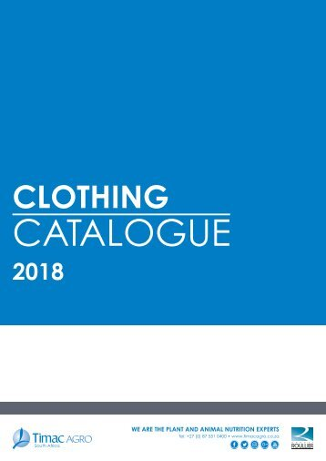 Timac Agro Clothing Catalogue 2018