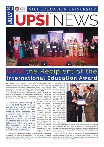 UPSI Newsletter July 2018