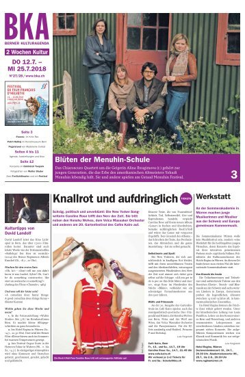 Berner Kulturagenda N° 27-28