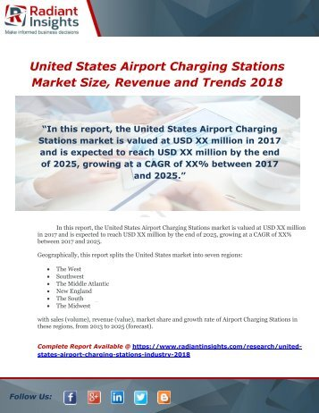 United States Airport Charging Stations Market Size, Revenue and Trends 2018