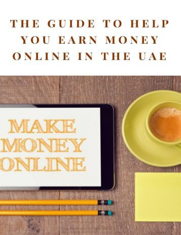 The Guide to Help You Earn Money Online in the UAE