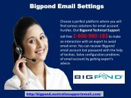 To Avoid Bigpond Email Settings Issue| Dial 1-800-980-183