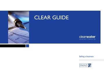 Selling a business - Clearwater Corporate Finance LLP