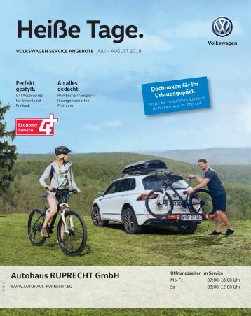 Volkswagen Service Angebote Juli – August 2018