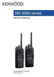 Kenwood NX-5200 - Communications French NX-5200,5300,5400 USER MANUAL R2.5 (2018)