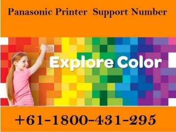 How to fix Panasonic Printer Support Error Issues