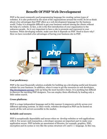 Benefit of Php Web Development