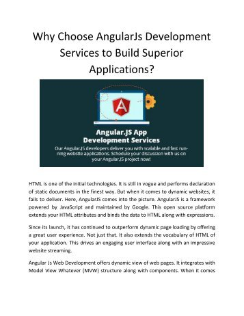 Why Choose AngularJs Development Services to Build Superior Applications?
